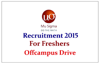 Mu Sigma Offcampus Drive for freshers for the various posts