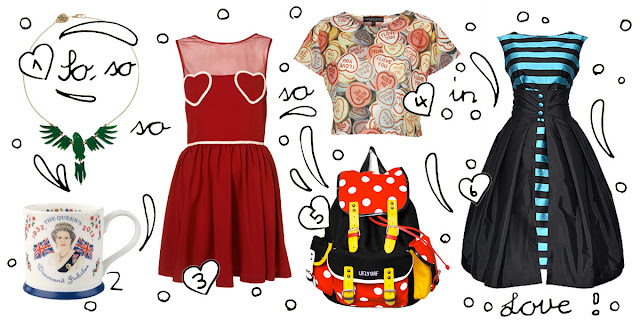 Tatty Devine, Lazy Oaf, Topshop, Dolly Dagger, Cath Kidston