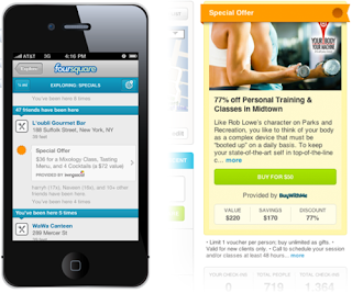 Groupon and Foursquare Partnership