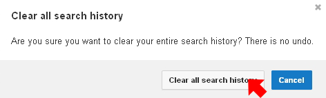 Clear all search history