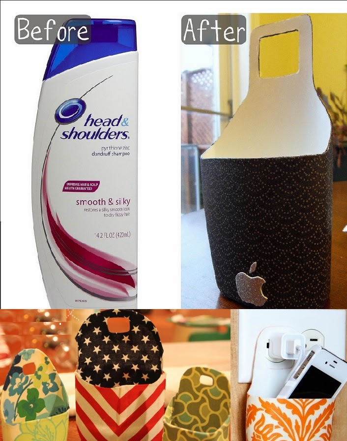 Best of waste material shampoo bottle can be a charging for Creative things out of waste