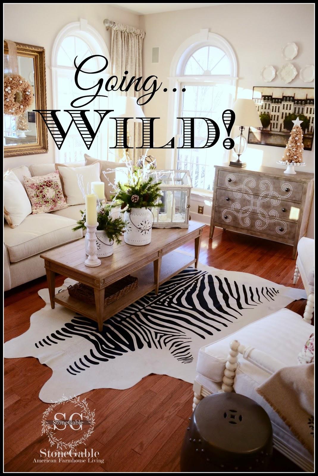 Zebra Pelt In The Living