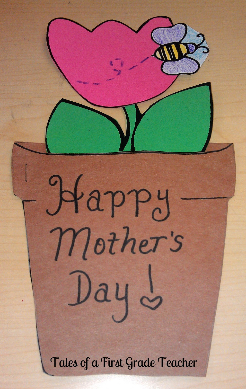 Mother's day Craftivity-Card for mom.