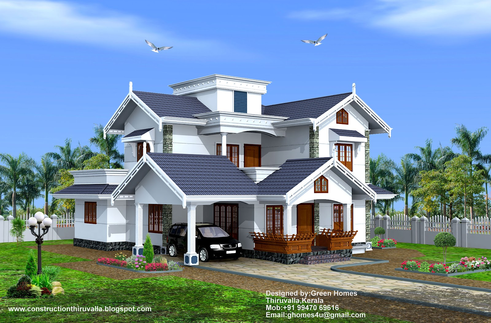 Green homes 4bhk india home design 2475 for Kerala home designs com