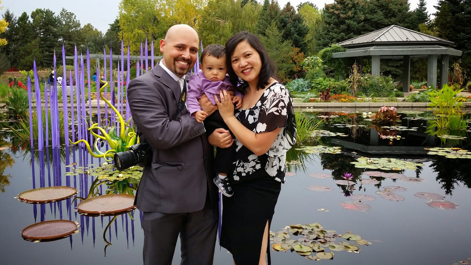 DJ Emir Wife and Son at Denver Botanic Gardens