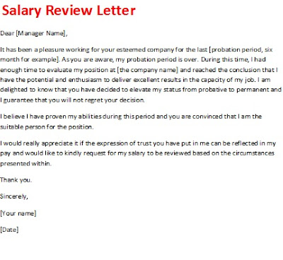 salary review letter, salary review letter picture