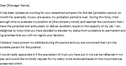 Salary Review Letter – Salary Review Letter Template