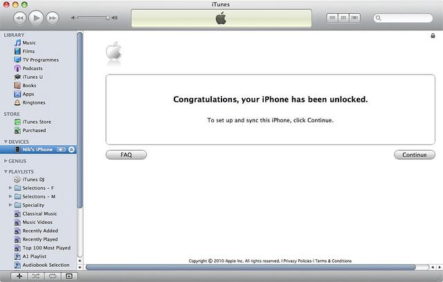 unlock iphone 5 using itunes
