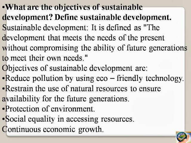 Omtex Classes  What Are The Objectives Of Sustainable
