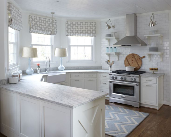 kitchen design with no top cabinets.  Lisa Gabrielson Design The Peak of Tr s Chic Kitchen Trend No Upper Cabinets
