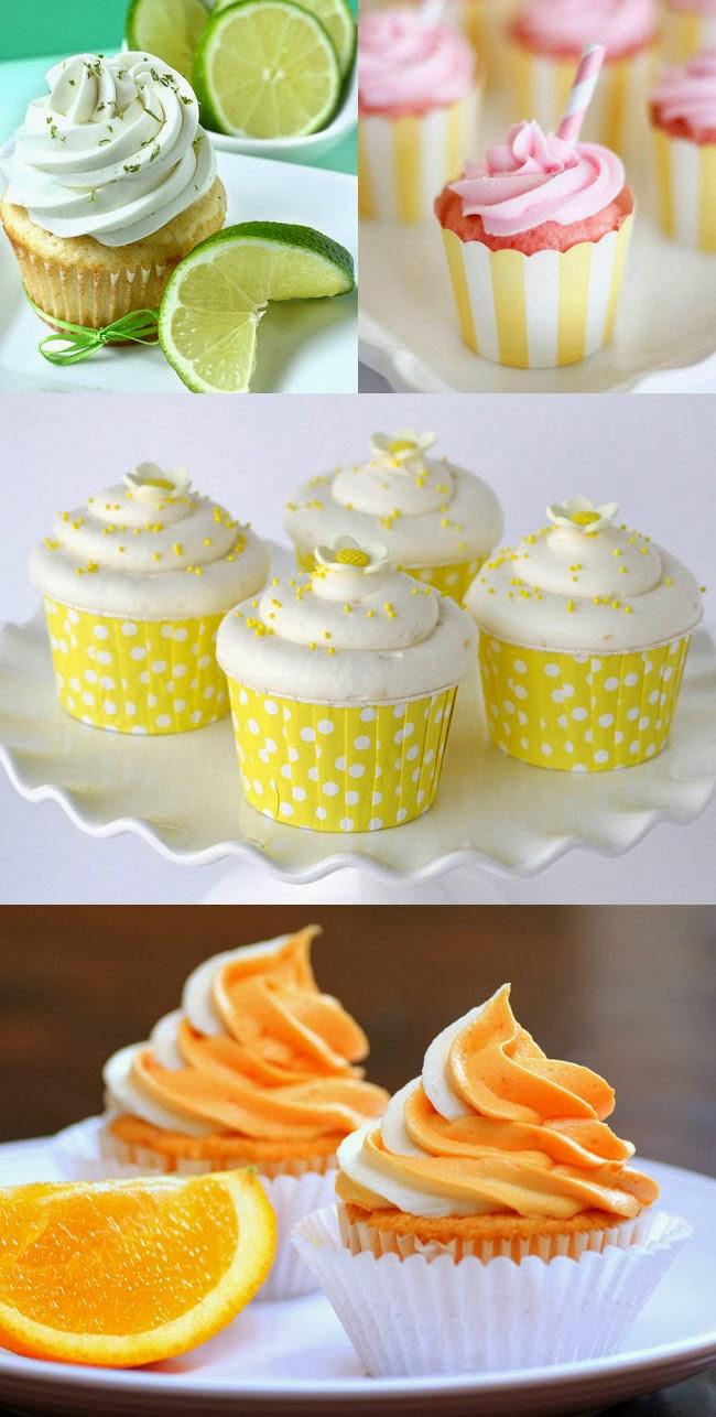 Lime, grapefruit, lemon, orange cupcakes