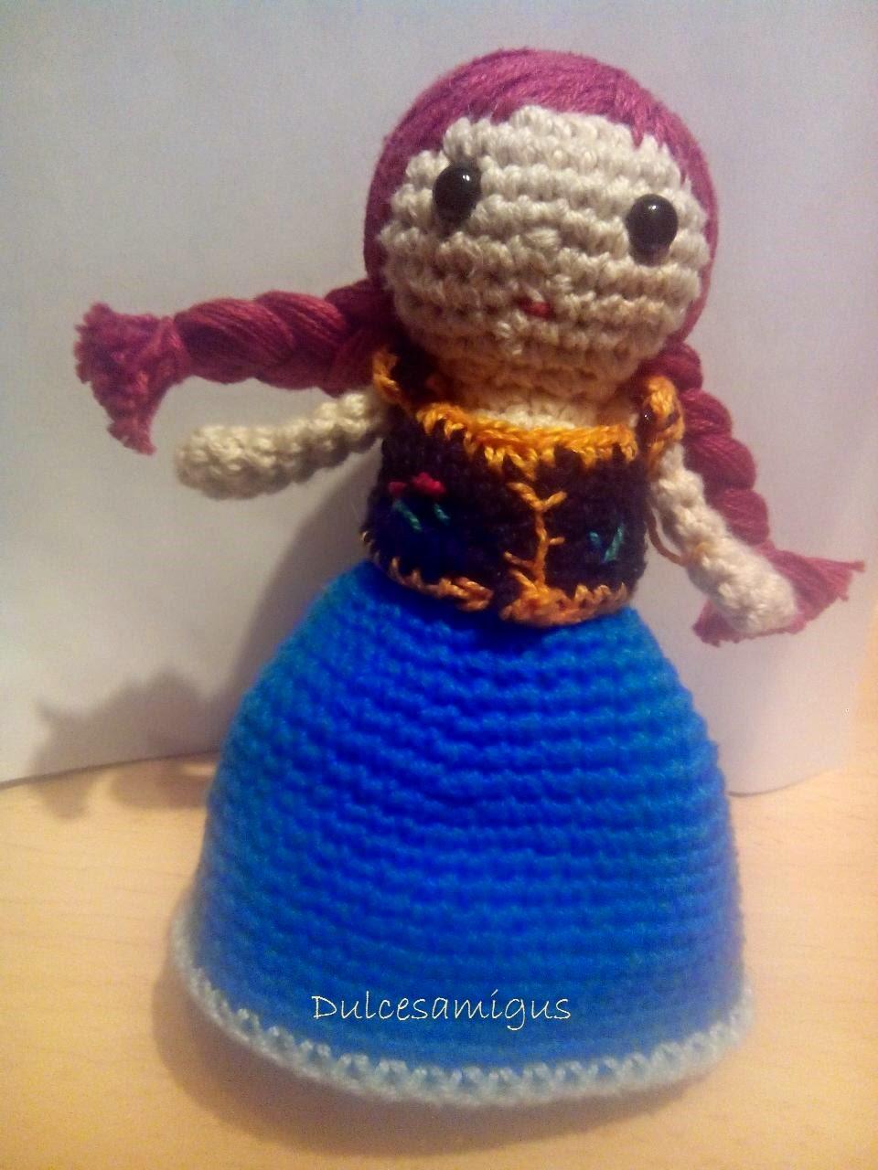 Amigurumi Patron De Elsa : Especial Elsa y Ana de FROZEN (Amigurumi) DulcesAmigus