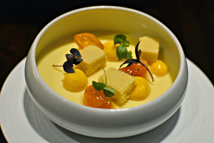 Fenchurch Seafood and Grill st clements posset