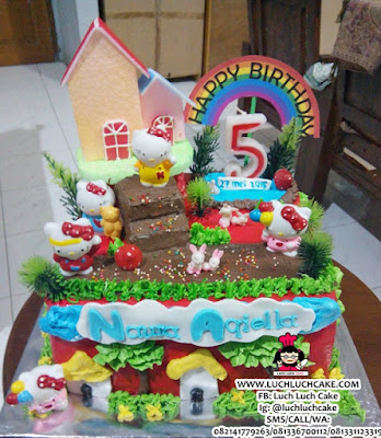 Birthday Cake Hello Kitty Cute