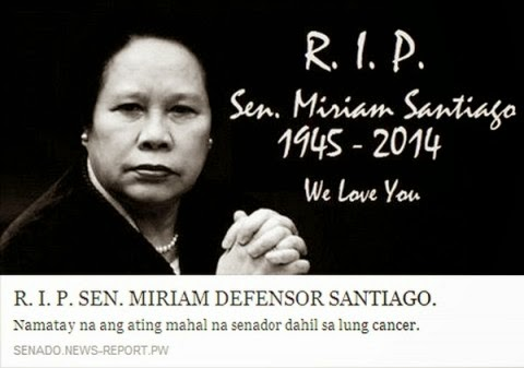 hoax news spread over social media that Sen. Santiago passed away