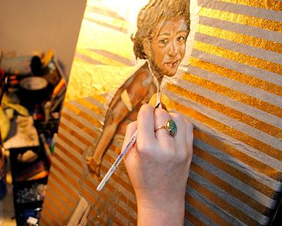 artist painting, corie hinton,