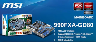 Motherboard MSI 990FXA-GD80 Socket AM3+ untuk Bulldozer