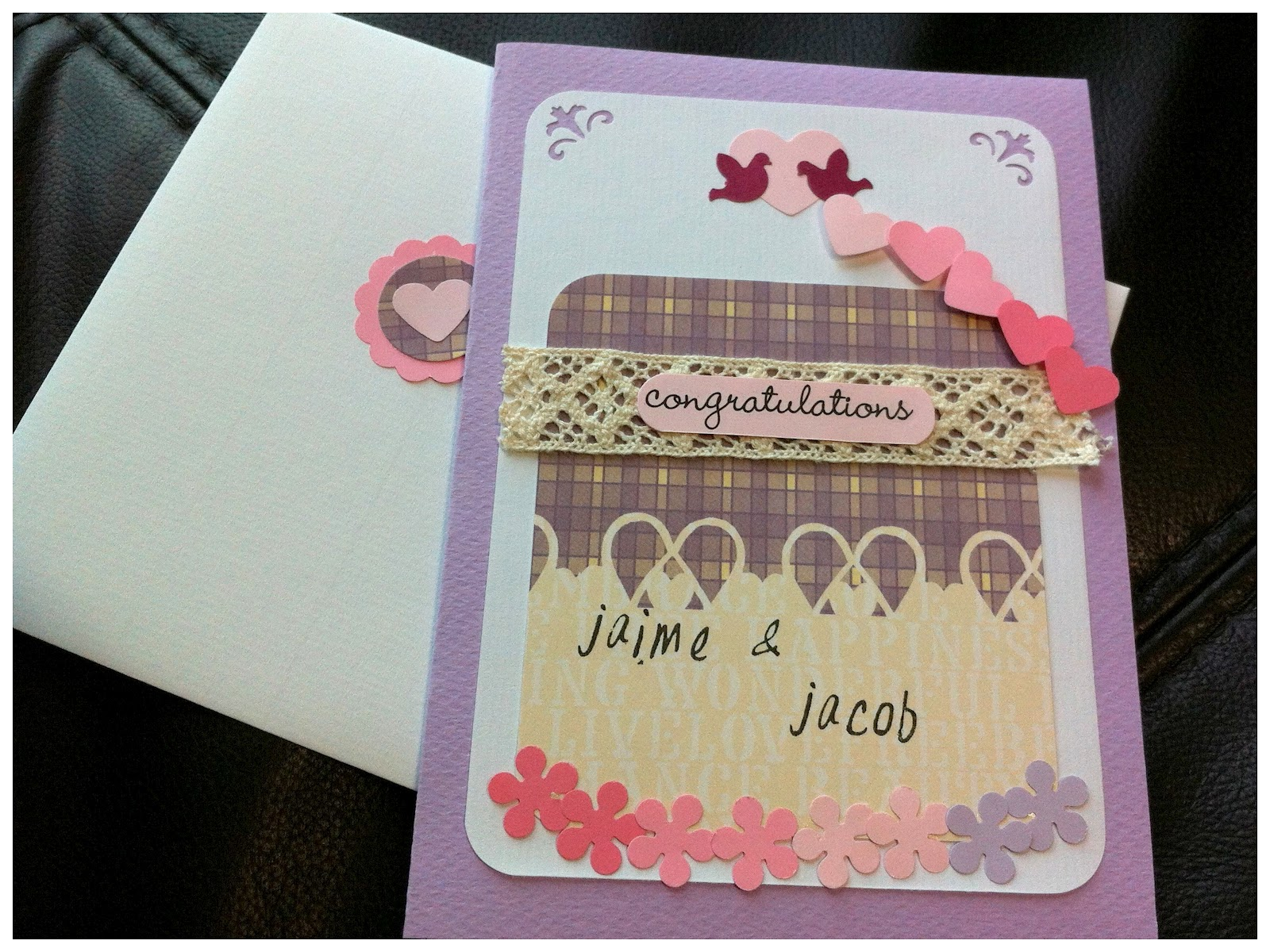 Fluffyheartz  E  A Personalized Wedding Congratulations Card