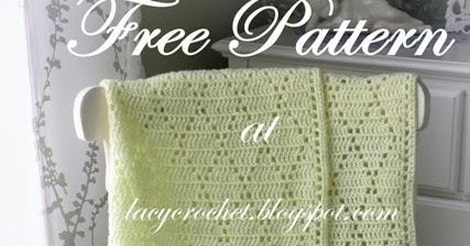 Crochet Baby Blanket Diamond Pattern : Lacy Crochet: Diamond Stitch Baby Blanket, Free Pattern