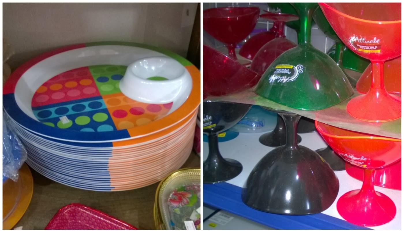 prato colorido e tacinhas de sorverte