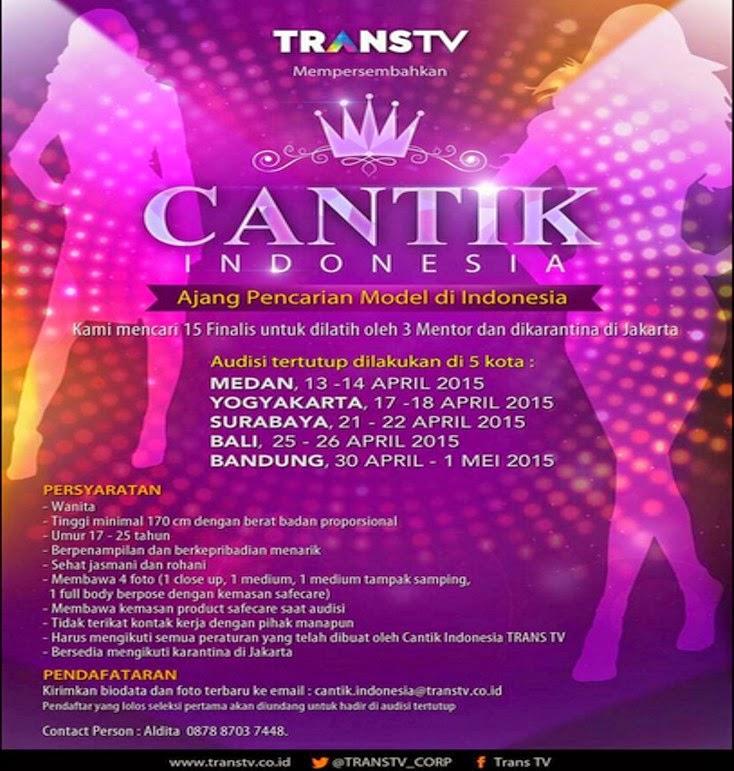 Audisi Cantik Indonesia Trans TV 2015