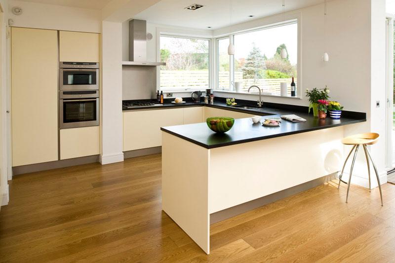 Minimalist White Cheap Kitchen Designs Photo