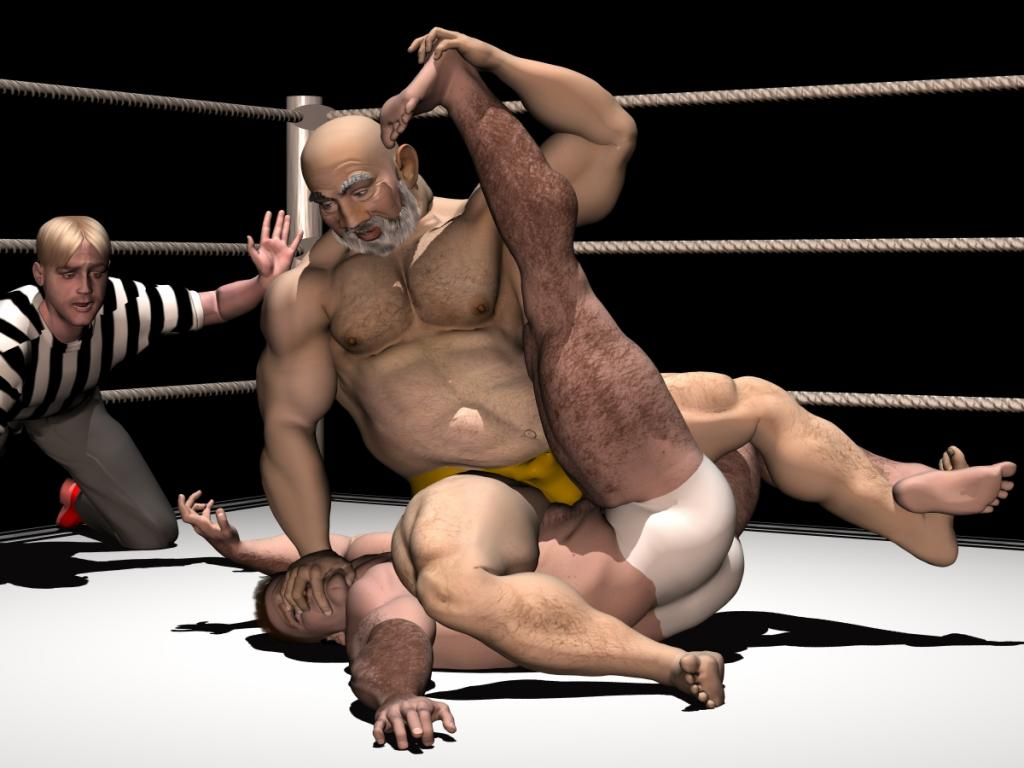 3d art gay wrestling