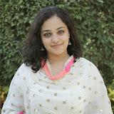 Nitya meenon Latest Photo Gallery in Salwar Kameez at New Movie Opening 42
