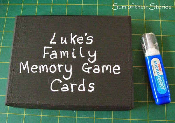 Box for memory game cards