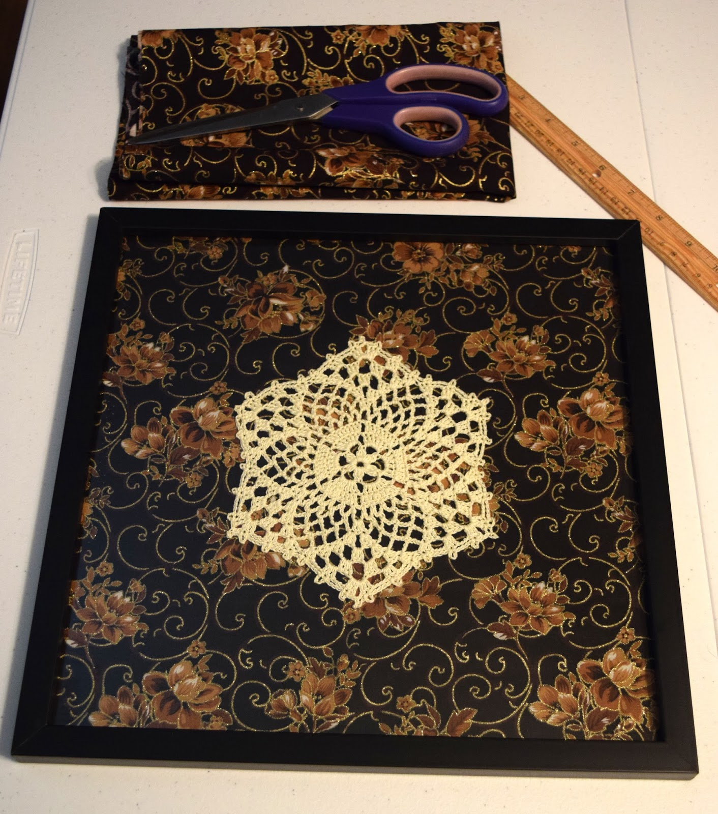 The Shtick I Do!: Framed Crochet Art