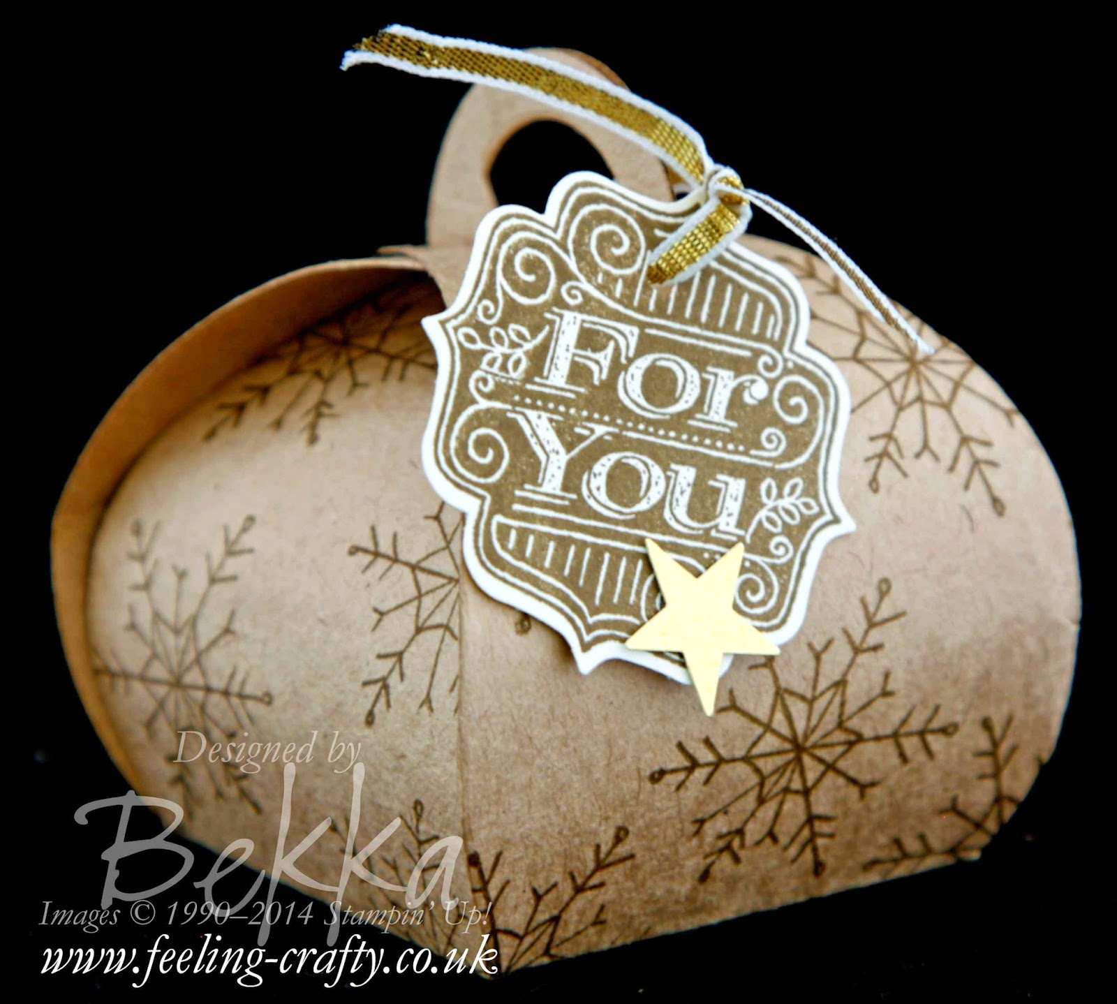 Endless Wishes Curvy Keepsake Box by Stampin' Up! UK Independent Demonstrator Bekka.  Get the die here