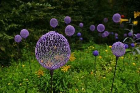 Etonnant Construct Allium Inspired Garden Stakes
