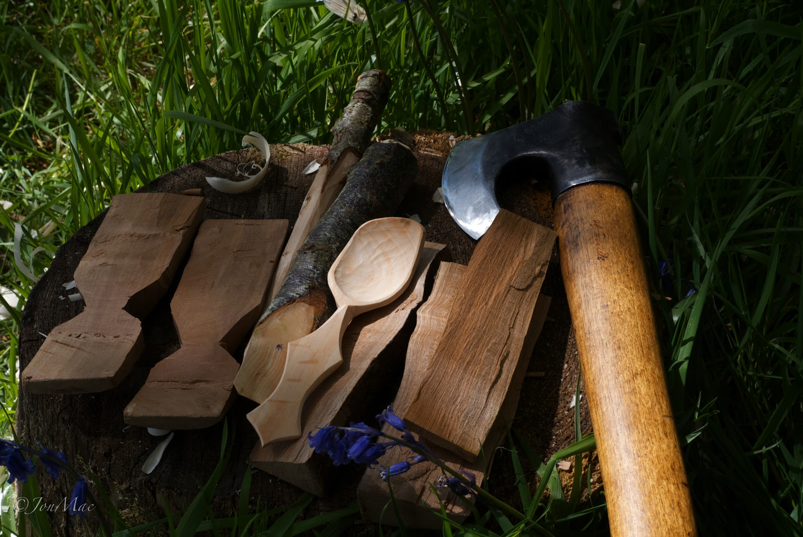 spoon blank+roselli axe+spoon carving+spoon whittling