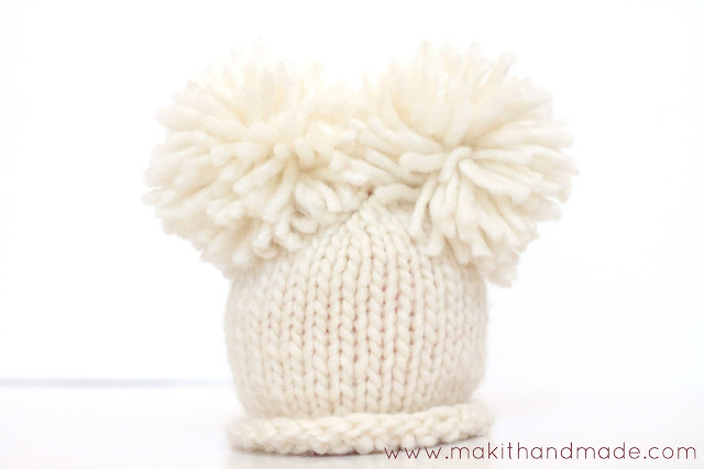The Perfect Pom Pom Tutorial By Make It Handmade. Learn the secret to making perfect, round, fluffy pom poms and how to secure them so they'll never come off.