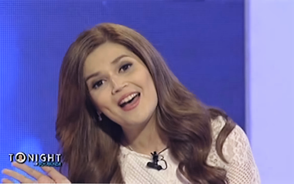 Donna Cruz while singing her hits on Tonight With Boy Abunda.