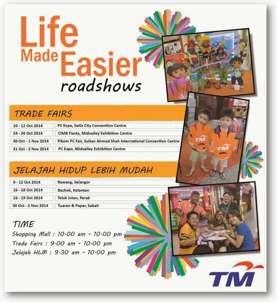 Come and Join Us in October 2014 'Life Made Easier' Roadshows