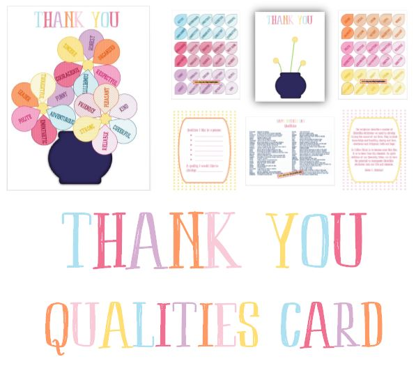 Qualities Thank You Card