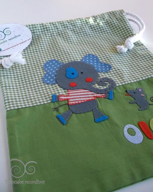 Bolsa de merienda Elefante y ratón1