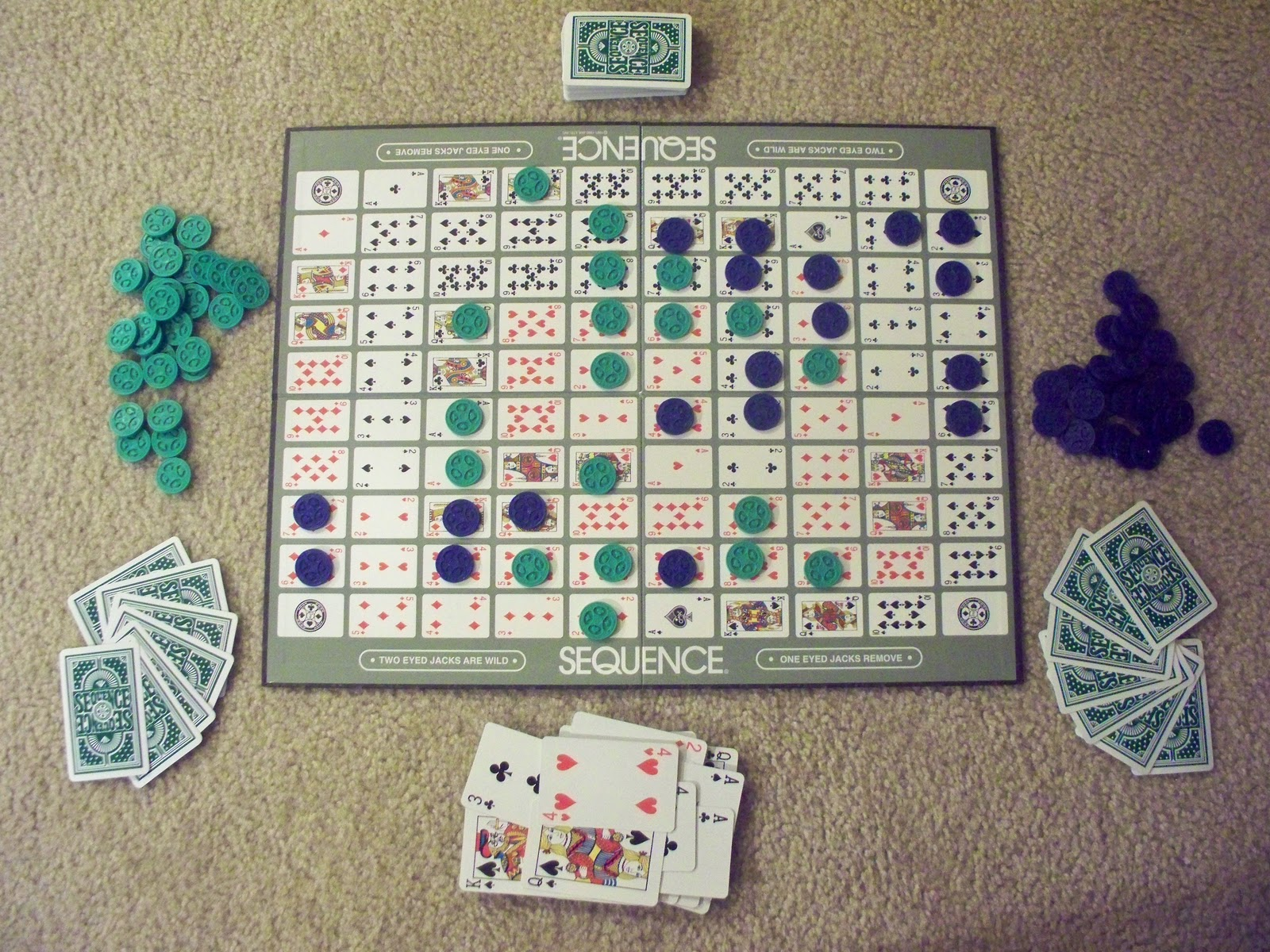 Amazon.com: SEQUENCE- Original SEQUENCE Game with Folding ...