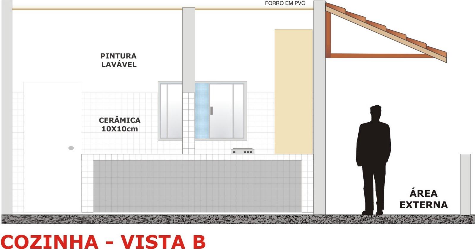 croquis: Projeto: pequena cozinha industrial #B32018 1600 839
