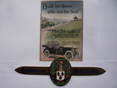 MATHESON radiator emblem badge