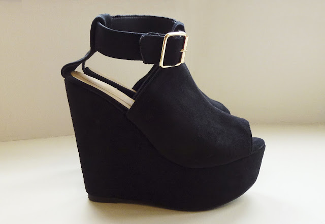 New Look Chunky Ankle Strap Wedges