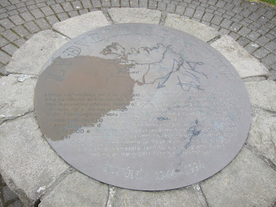 Commemorative Sign of Iceland's Republic Proclaim