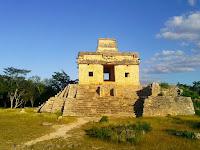 Casa 7 Muñecas Dzibilchaltún Ruinas Mayas Yucatan Mexico
