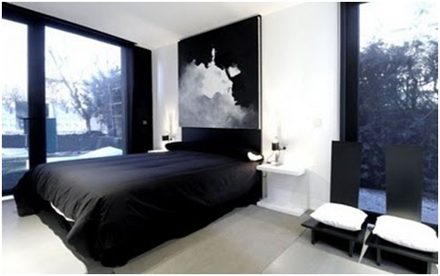BLACK AND WHITE BEDROOMS MINIMALIST DORMS