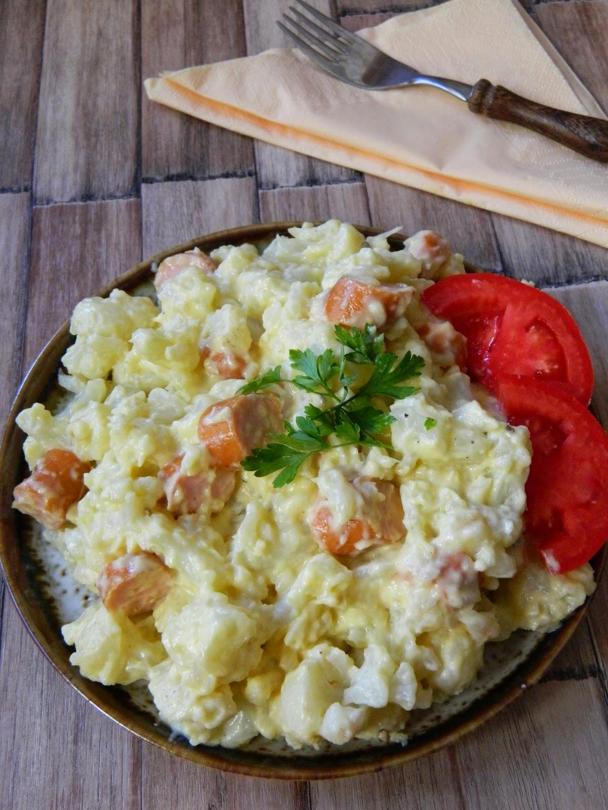 Salata de conopida cu crenvursti de pui