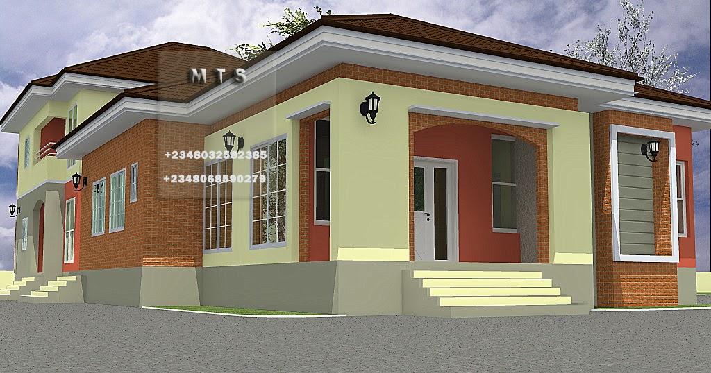 4 bedroom bungalow 3 bedroom duplex residential homes for Duplex bungalow design