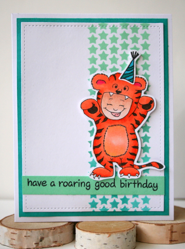 Stretch Your Stamps Birthday Card using Halloween Stamps by Jess Moyer featuring Gerda Steiner Designs
