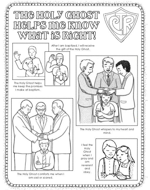 free coloring pages of lds holy ghost
