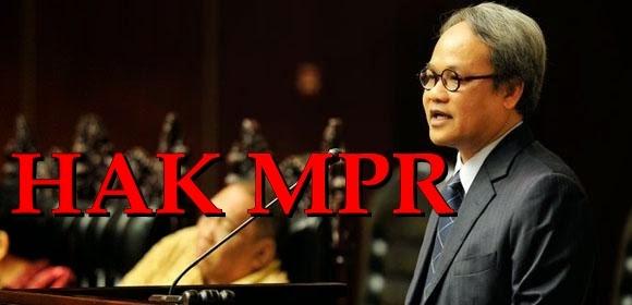Hak anggota MPR RI